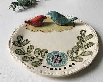 two bird plate