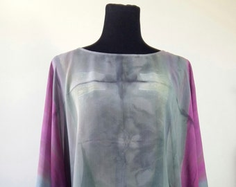 Blouse in natural silk
