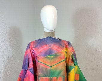 COCO-blouse made of natural unused handpainted japanese vintage silk