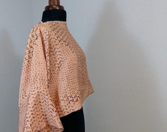 COCO-blouse made of natural unused japanese vintage silk