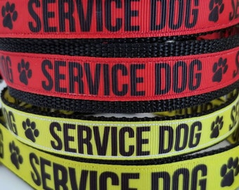 UPDATED LISTING - Service dog COLLAR - Paw<----