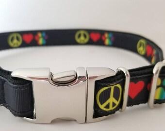 Peace, love & dogs Dog collars