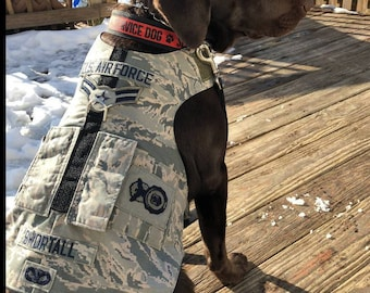 Custom made Military dog harnesses