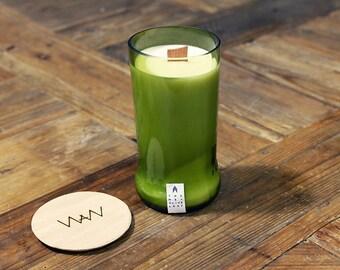 Wine Bottle Soy Candle - Thyme + Olive Leaf