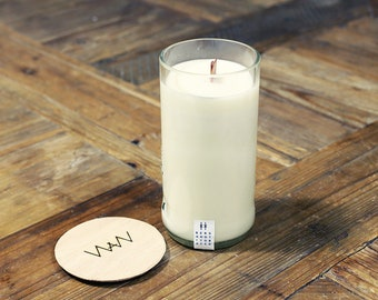 Campari Bottle Soy Candle - Bergamot + Tobacco