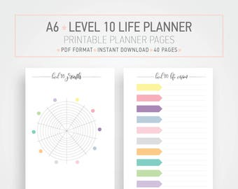 a5 planner printable planner new year planner resolutions etsy