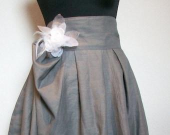 Maxiskirt linen skirt bud shape wedding custom made to measure