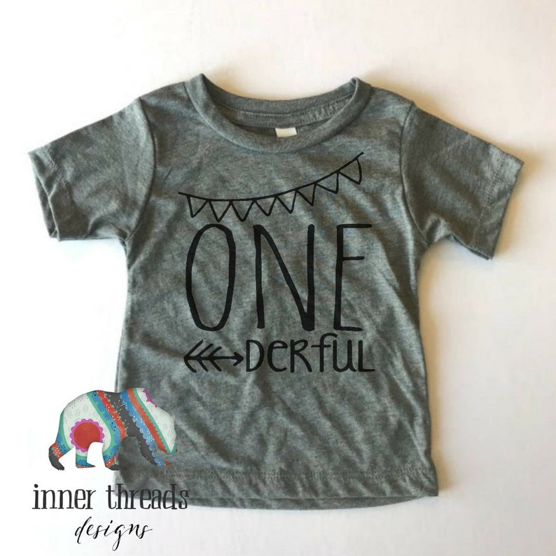 4911d991a NEW TRIBLEND One-Year-Old Grey T Shirt. One-derful. | Etsy