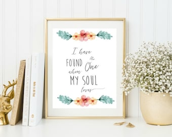 Wedding decorations rustic, Wedding print, Wedding Decor ideas Wedding reception decor, Bible verse, I have found the one whom my soul loves