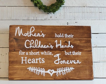 Birthday gift for mother, Mothers day gift, Rustic Wooden Sign, gift for mum, Mother of the bride gift, Birthday gift for mom, gift mom