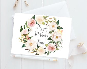 Happy Mother's Day Card, Mothers Day Card, Mother's Day Card Floral, Mothers Day Card Unique, Mothering Sunday, Mum Card, Mom Card, Best Mom