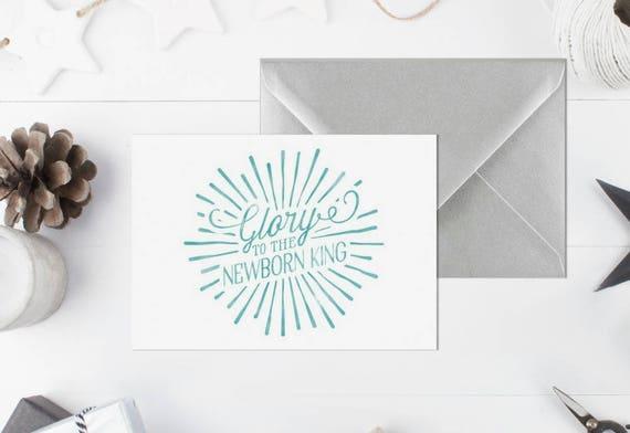 Religiöse Weihnachtskarte Pack Aquarell Weihnachtskarte | Etsy