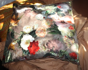Pillow Floral Decoration Pillow Large Flowers Velvet Pillow Home Decoration Pillow Home sweet Home for Home