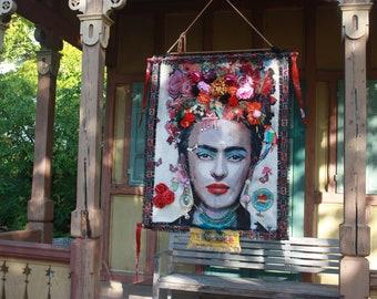 Frida Textile Art Tapestry Wall Hanging Wall Decoration Decoration Wall Panel Art Art Frida