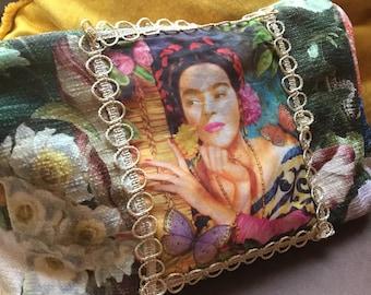 Cosmetic Bag Fridamotiv Fabric Case Cosmetic Bag Bag Cosmetics Mobile Phone Bag Stuff Stuff Bag