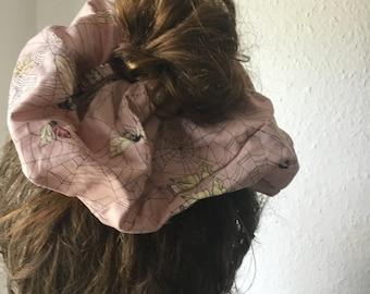 Scruncie Large Scruncie Pink Butterflies Insects Hairband Hair Accessories Hair Accessories Hair Accessories for Hair