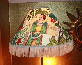 Lampshade Frida motif fabric ceiling lamps shade for table lamp for floor lamp lampshade Living with Frida motif fabric pendant lamp
