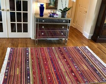 Area Kilim Rug Kitchen kilim rug Rug for living room Housewarming Gift Kilim rug Runner Rugs 5x8,