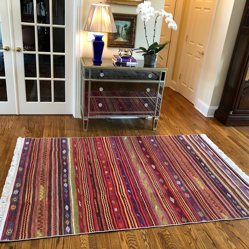 nd New Turkish Kilim Design Striped Area Rugs and Runner | Etsy  X Kitchen Design on 7 x 12 kitchen design, 7 x 10 kitchen design, 7 x 9 kitchen design, 6 x 10 kitchen design,