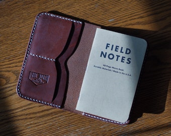 Leather Field Notes Wallet - The Expedition Wallet - Pasport - Handmade USA