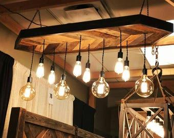 reclaimed wood chandelier light fixture chevron pendant light chandelier reclaimed wood canopy and fixture free shipping wood light etsy
