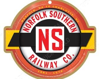 430eb058324 Norfolk Southern Railway Logo Wood Plaque   Sign