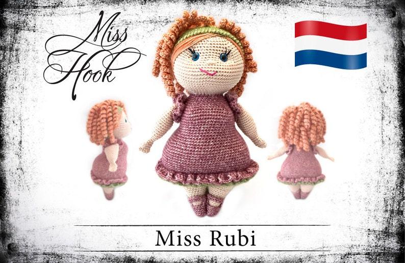 Haakpatroon voor de pop Miss Rubi eBook PDF dutch image 0