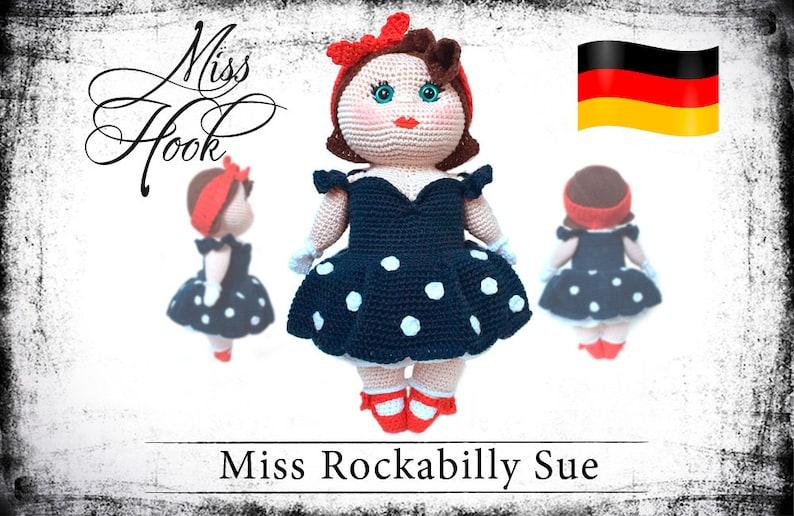 crochet doll pattern Miss Rockabilly Sue eBook PDF german image 0