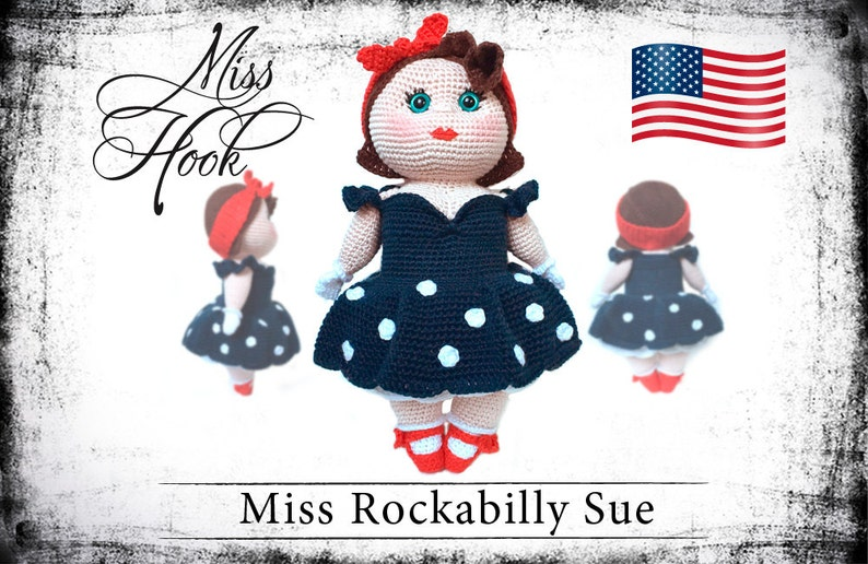 crochet doll pattern Miss Rockabilly Sue eBook PDF english image 0