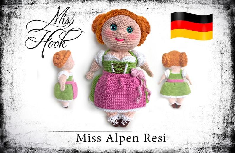 crochet doll pattern Miss Alpen Resi eBook PDF german image 0