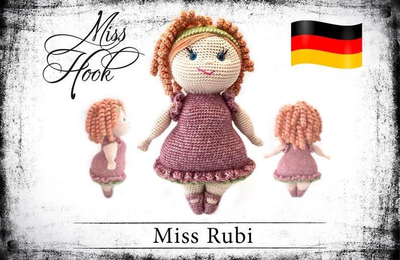 crochet doll pattern Miss Rubi eBook PDF german language image 0