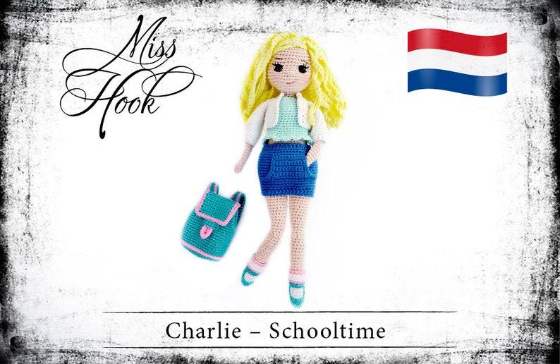 Haakpatroon voor de pop Charlie het schoolmeisje eBook PDF image 0