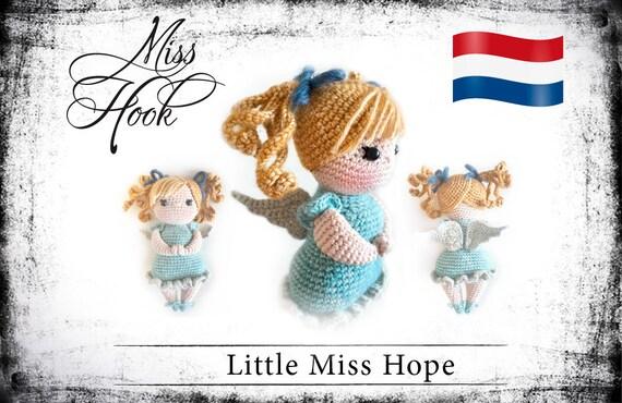 Haakpatroon Voor De Pop Little Miss Hope Beschermengel Ebook Etsy