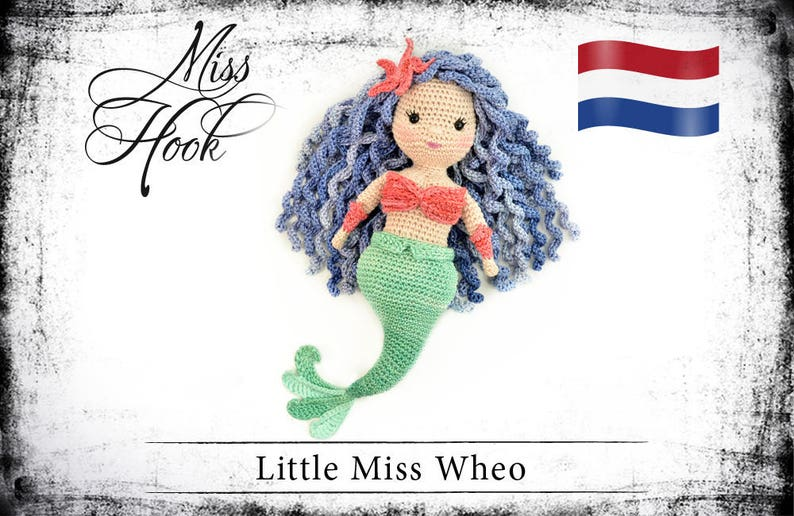Haakpatroon voor de pop Little Miss Wheo zeemeermin eBook image 0