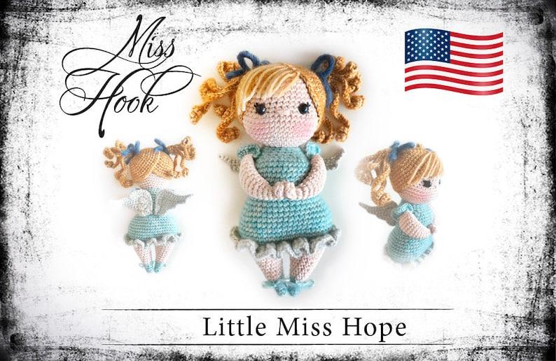 crochet doll pattern Little Miss Hope guardian angel eBook image 0