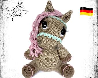 "crochet pattern pony horse ""Hazel"" amigurumi PDF (german)"