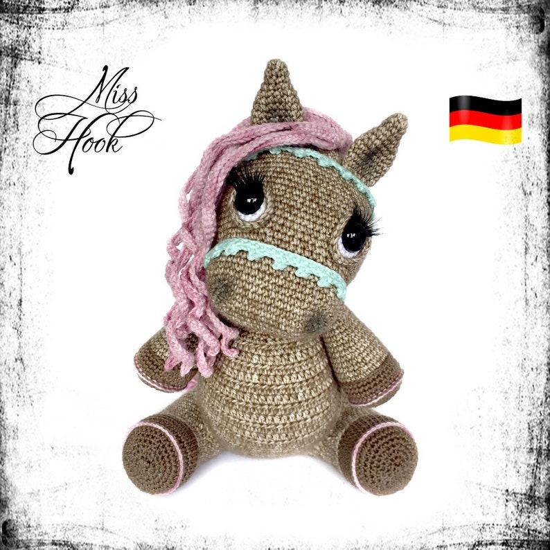 crochet pattern pony horse Hazel amigurumi PDF german image 0