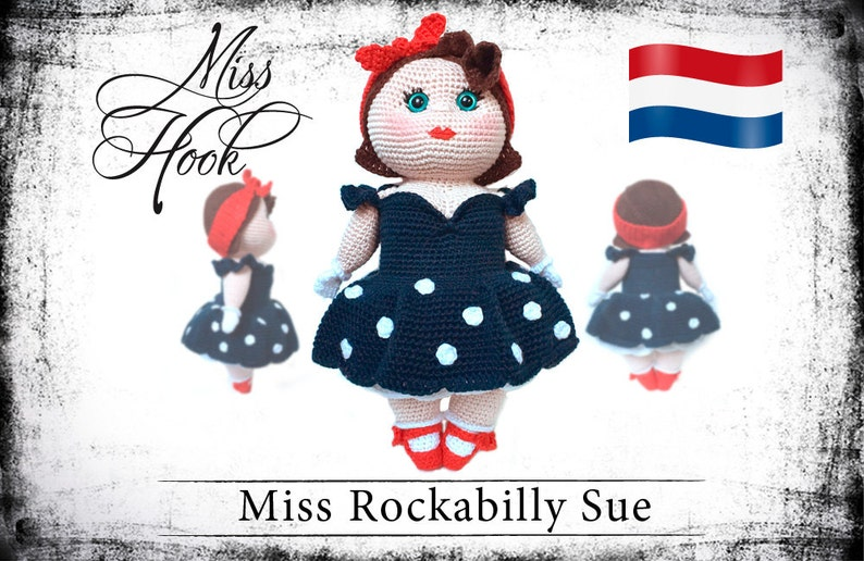 Haakpatroon voor de pop Miss Rockabilly Sue eBook PDF image 0