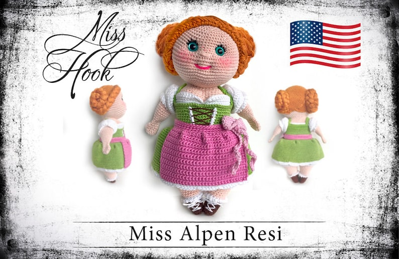 crochet doll pattern Miss Alpen Resi eBook PDF english  us image 0