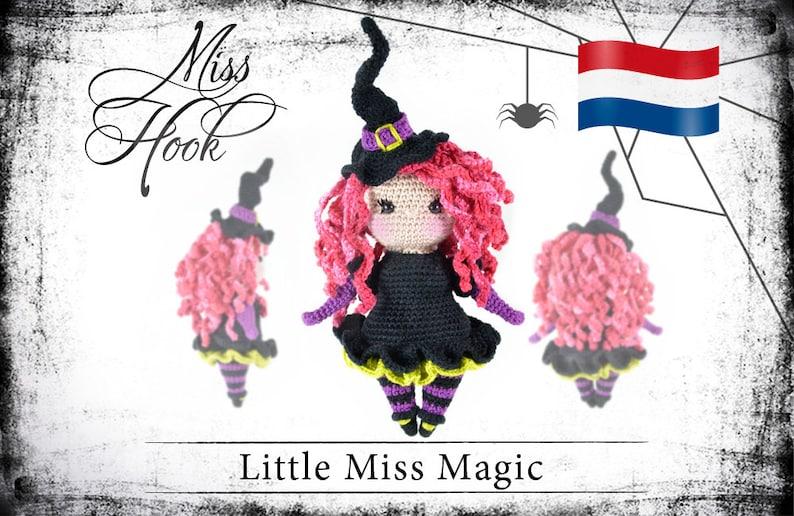 Haakpatroon voor de pop Little Miss Magic kleine heks eBook image 0