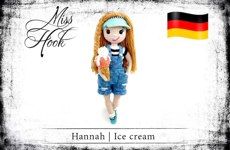 crochet doll pattern Hannah  Ice Cream eBook PDF german image 0