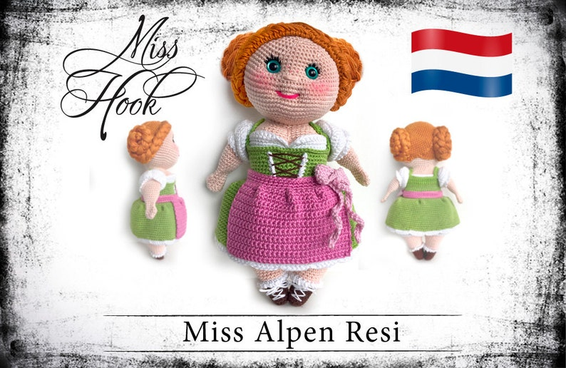Haakpatroon voor de pop Miss Alpen Resi eBook PDF dutch image 0