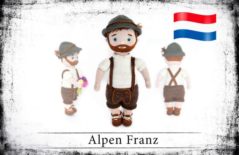 Haakpatroon voor de pop Alpen Franz eBook PDF dutch image 0