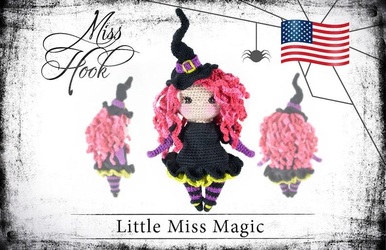 crochet doll pattern Little Miss Magic little witch eBook image 0
