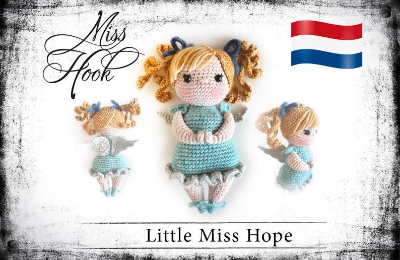 Haakpatroon voor de pop Little Miss Hope beschermengel eBook image 0