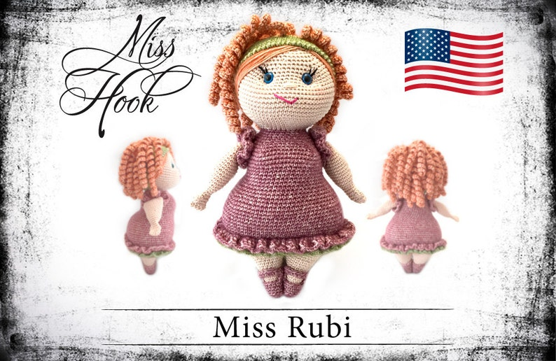 crochet doll pattern Miss Rubi eBook PDF english language image 0