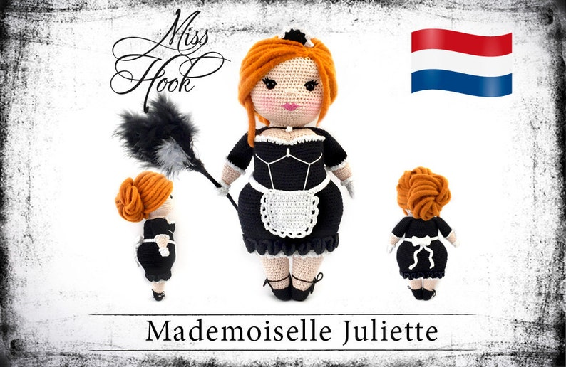 Haakpatroon voor de pop Mademoiselle Juliette eBook PDF image 0