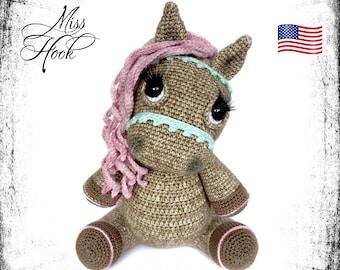 "crochet pattern pony horse ""Hazel"" amigurumi PDF (English, US terms)"
