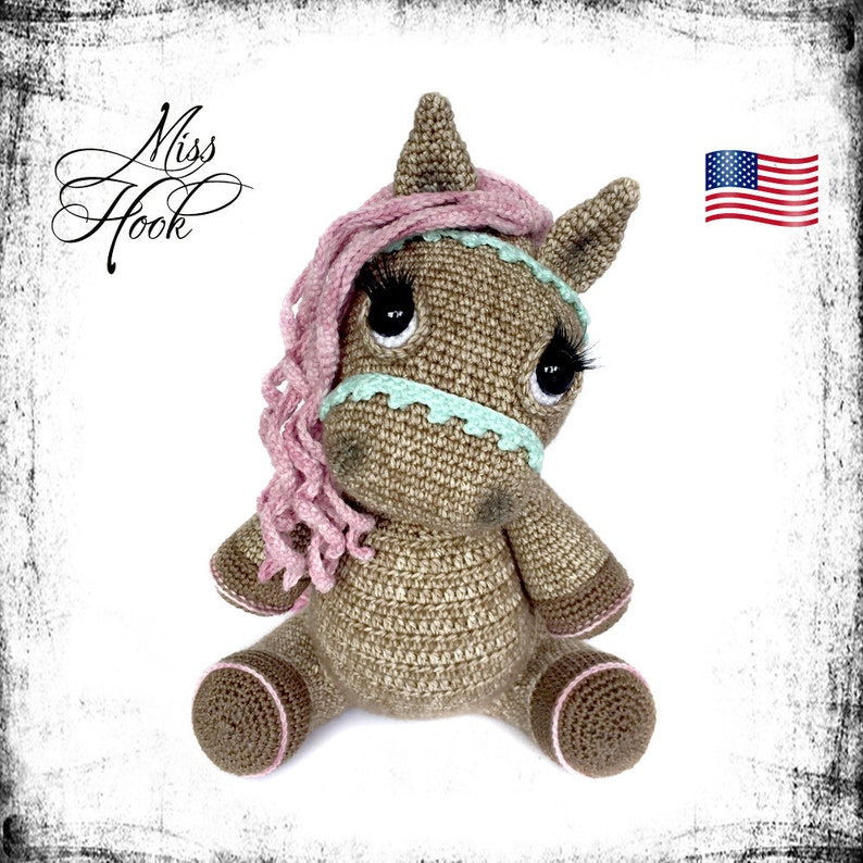 crochet pattern pony horse Hazel amigurumi PDF English US image 0
