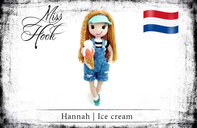 Haakpatroon voor de pop Hannah het zoetekauw eBook PDF image 0
